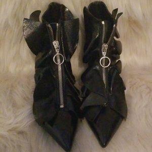 Zara zip up boots